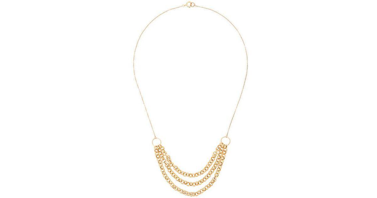 Three Chain necklace - Metallic PetiteGrand BIGKhCp