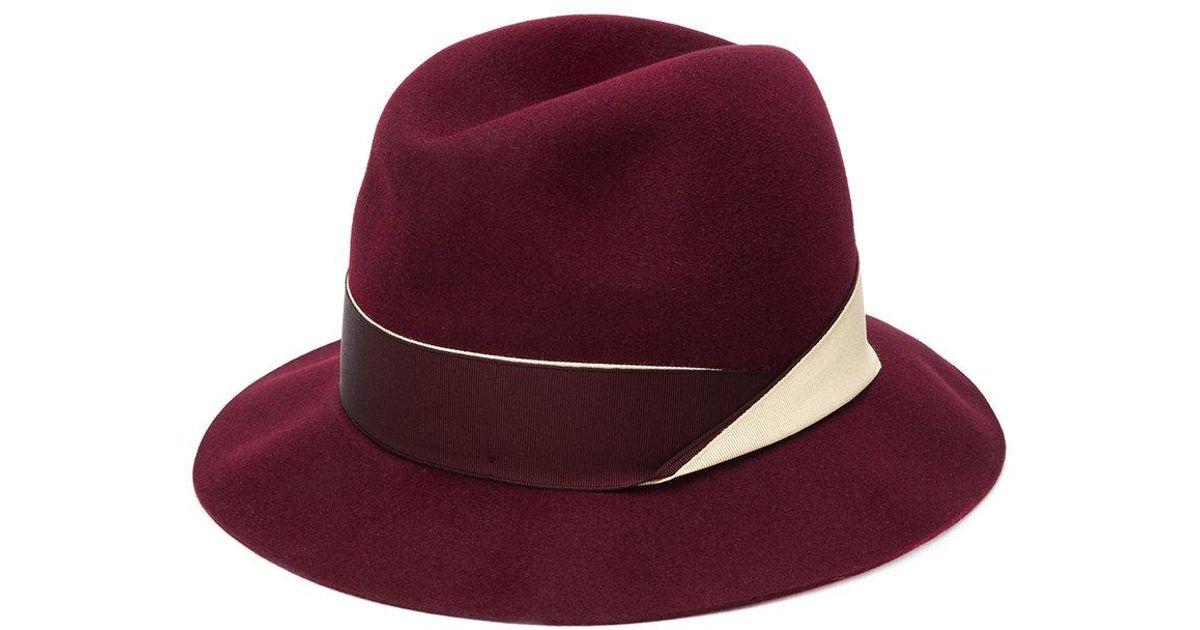 Lyst - Sombrero Marengo Borsalino de color Rojo 7ebf744bb0c