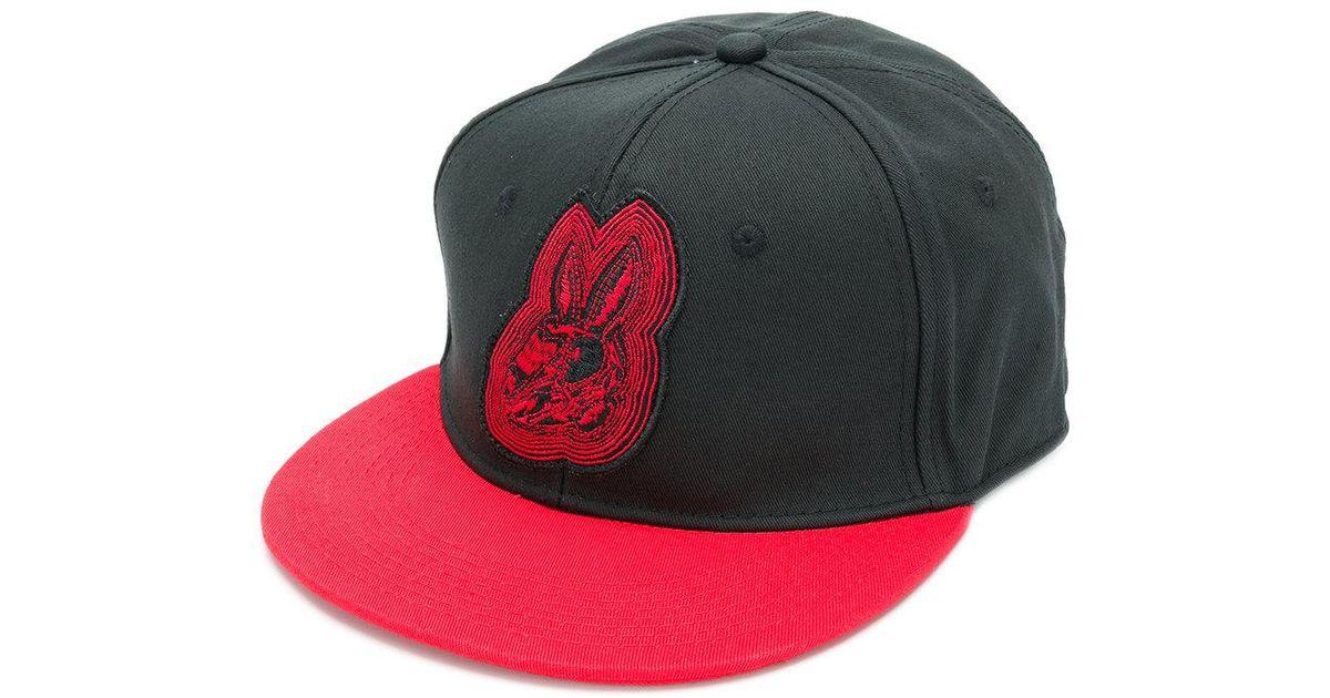 Mcq Alexander Mcqueen Bunny Baseball Cap in Black for Men - Lyst 0abb1fee3199