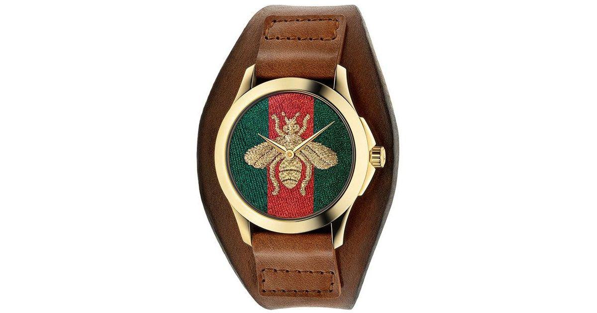 41bb7e022 Reloj Le Marché Des Merveilles Gucci de hombre de color Marrón - Lyst