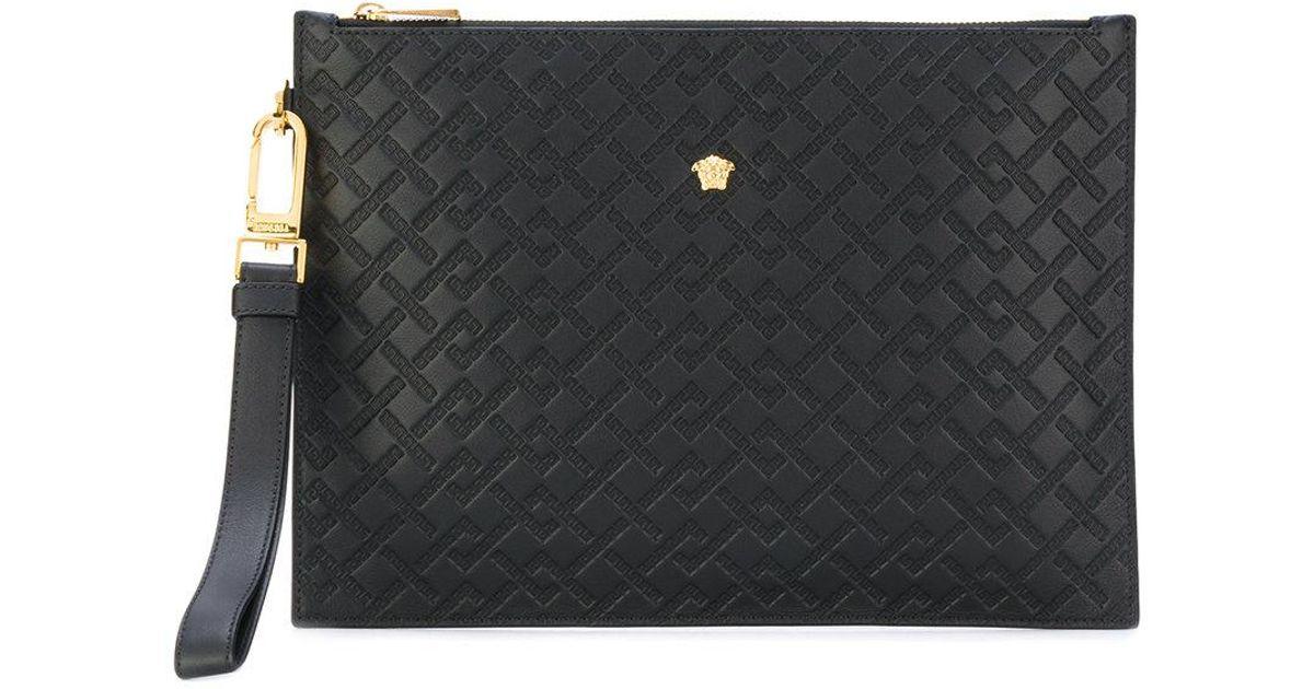 Versace Medusa Clutch Bag in Black for Men - Lyst 3db6143f0a7a8