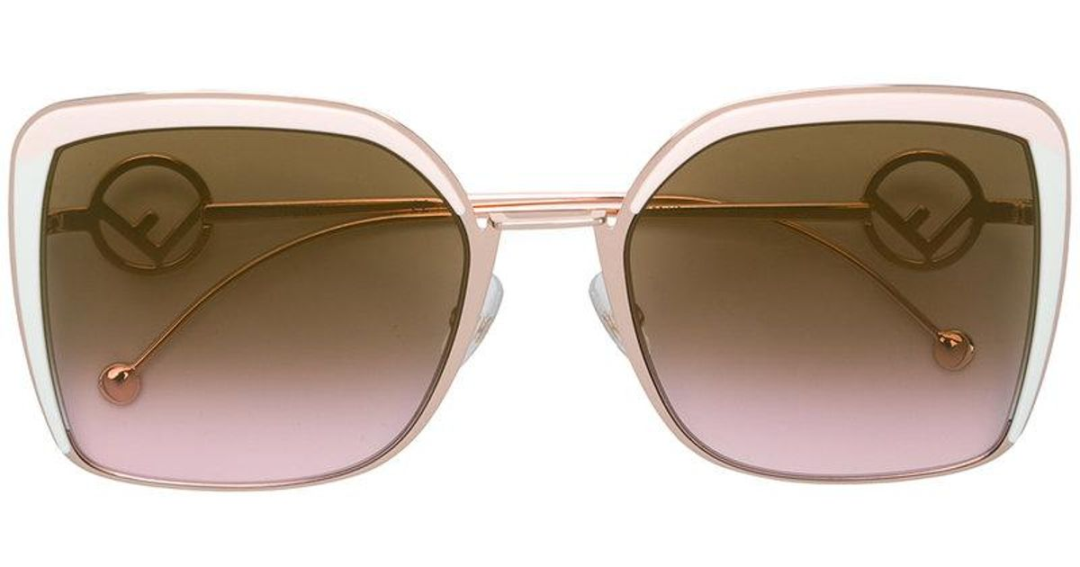 7e52c46f9e41 Fendi F Is Fendi Sunglasses in Pink - Lyst