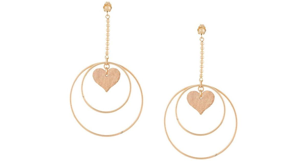 PetiteGrand Heart earrings - Metallic sbOfGoKLMd