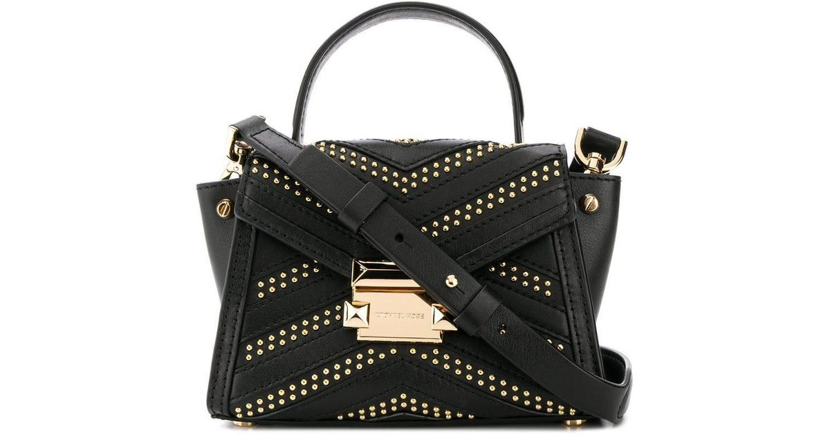 2af435172a25 MICHAEL Michael Kors Mini Whitney Studded Tote in Black - Lyst