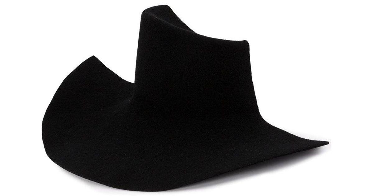 Lyst - Yohji Yamamoto Half Hat in Black ce05c0ee8f4