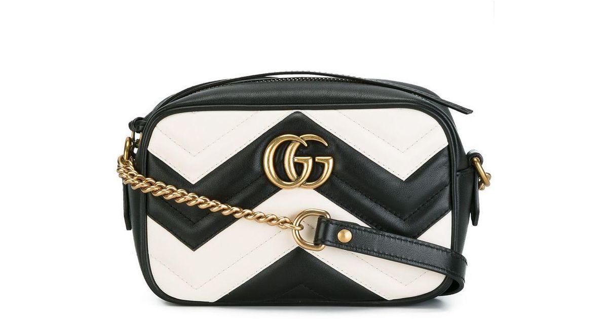 8768ed248 Gucci GG Marmont Matelassé Mini Bag in Black - Lyst