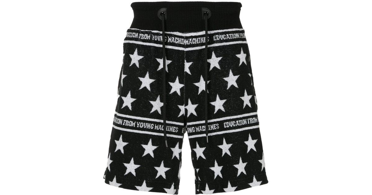 star-intarsia shorts - Black Education from Youngmachines YNpB6FGCG