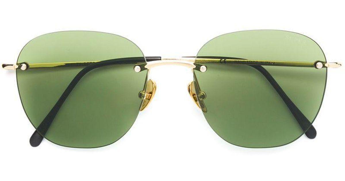 In Green Lou Retrosuperfuture Sunglasses Lyst qRawO