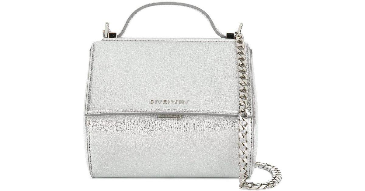 4fcea94ce40 Givenchy Mini Pandora Box Chain Bag in Metallic - Lyst