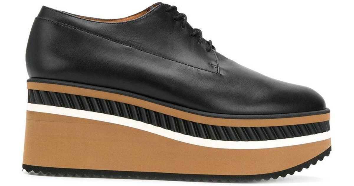 ecfcbd531534 Lyst - Clergerie Lomia Wedge Derby Shoes in Black