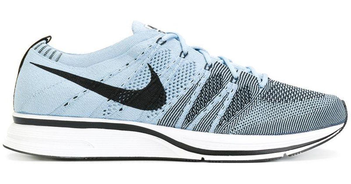 f434a78fe61 Lyst - Nike Flyknit Sneakers in Blue for Men