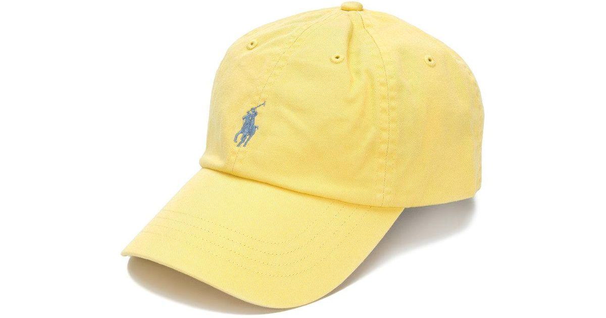 7af0d9f3138 Lyst - Casquette à logo brodé Polo Ralph Lauren pour homme en coloris Jaune