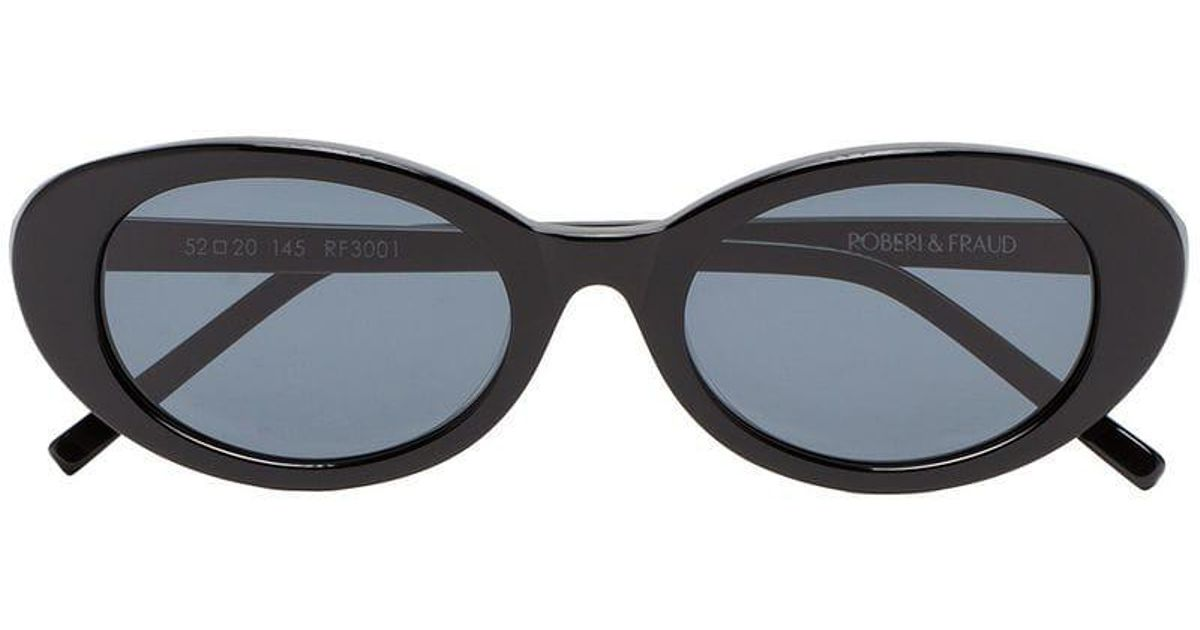 fc3d2b7b5e Roberi And Fraud Black Betty Oval Sunglasses in Black - Lyst