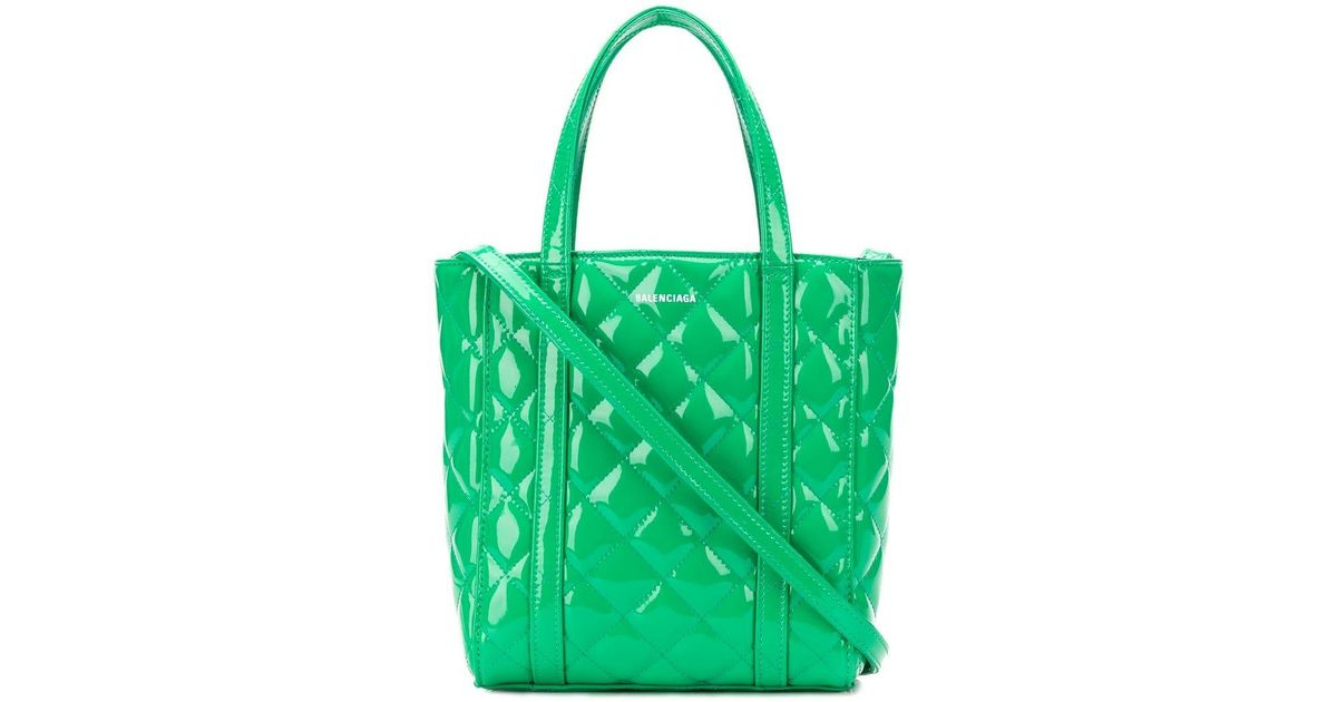 a39c8f64a Balenciaga Everyday Xs Quilted Tote Bag in Green - Lyst