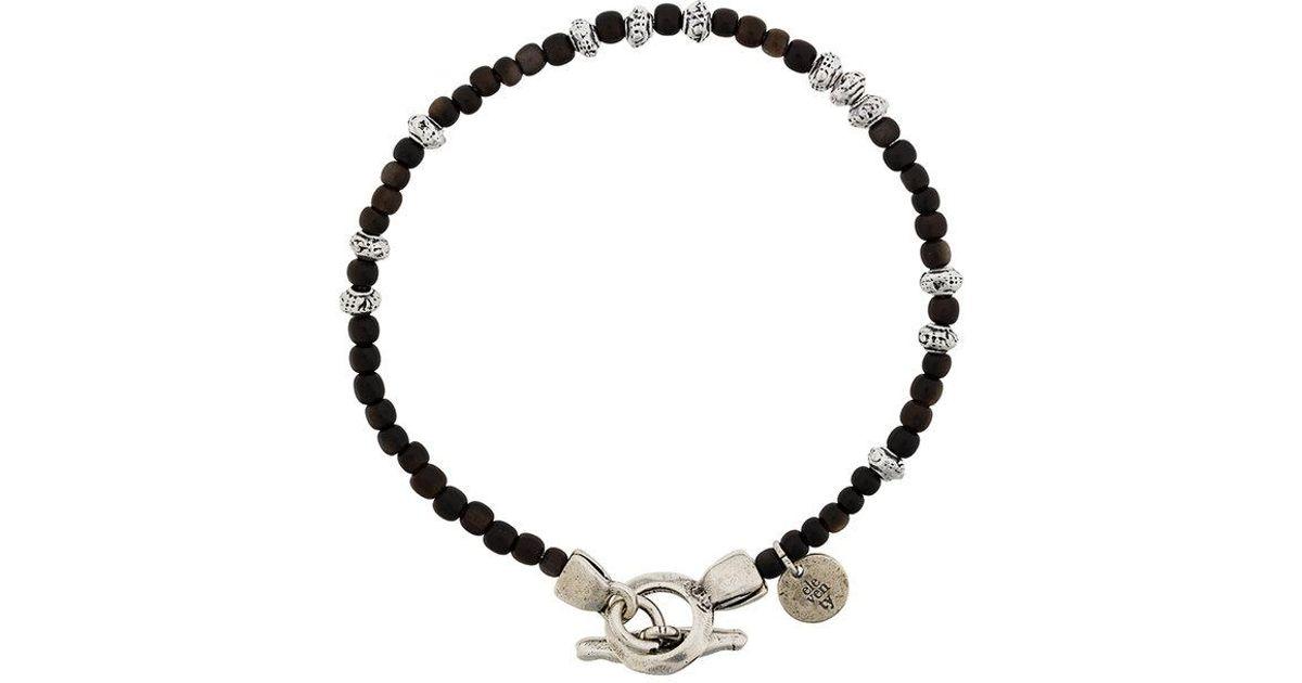 Eleventy beaded charm bracelet - Brown cBI40KX8B