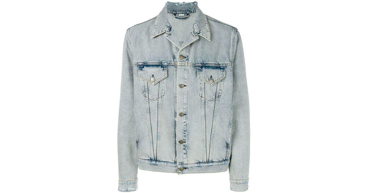 0597b8c344c Lyst - Gucci Teddy Denim Jacket in Blue for Men