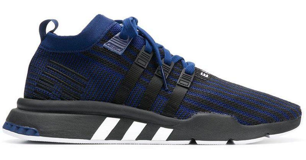 on sale c8f57 dea63 Lyst - adidas Eqt Support Mid Adv Primeknit Sneakers in Blue