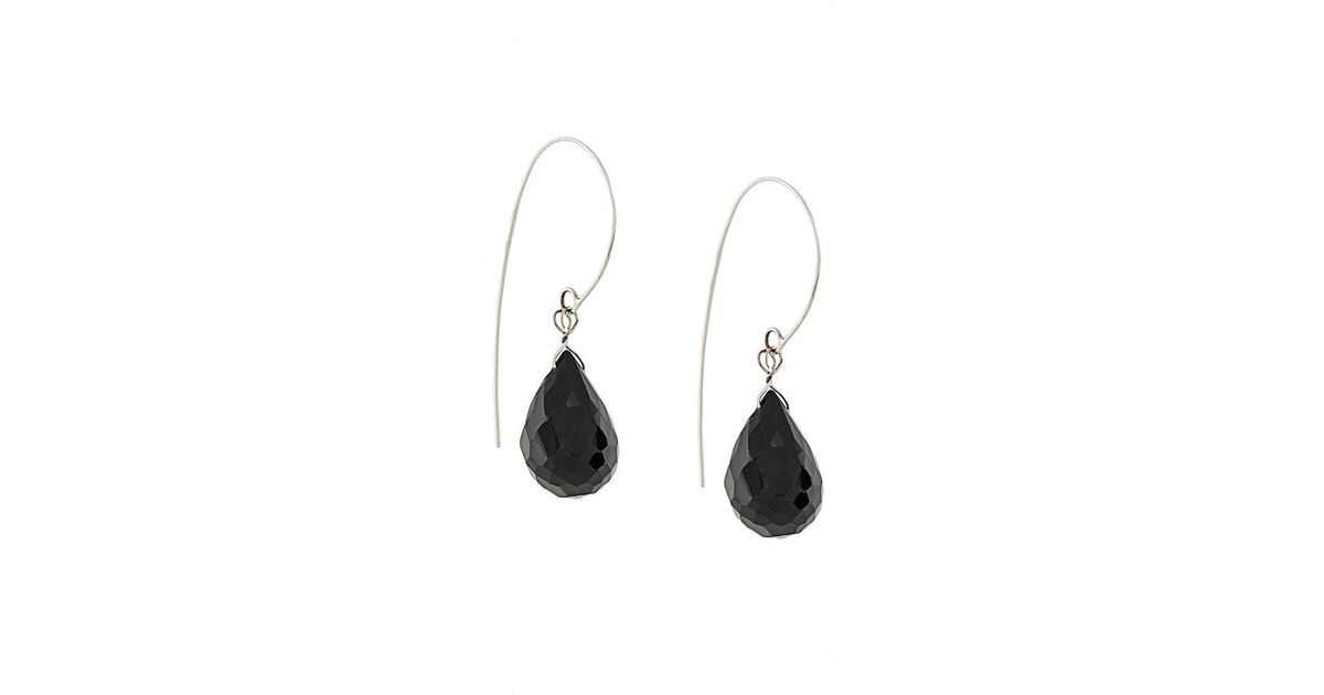 d loading spinel boucle enomis oreille black noir earrings spinelle en zoom