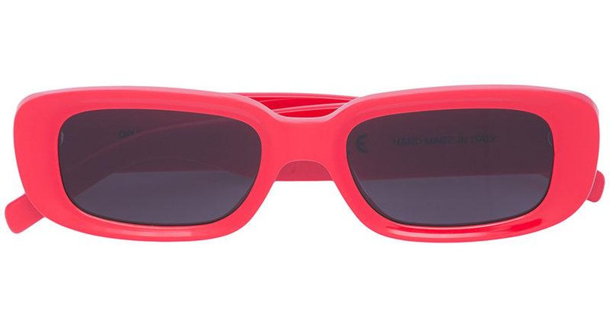 Lyst - Off-White c o Virgil Abloh Red Square Frame Sunglasses in Red f14dec9db