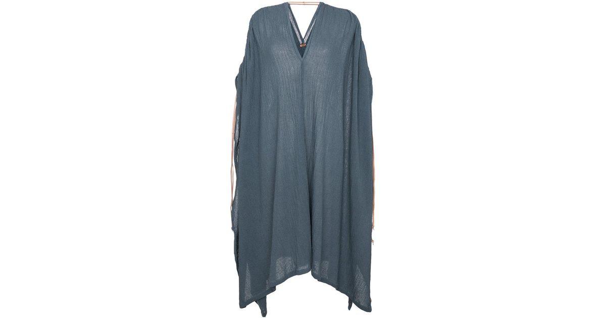 ruched shoulder kaftan dress Caravana wulG9Bvar