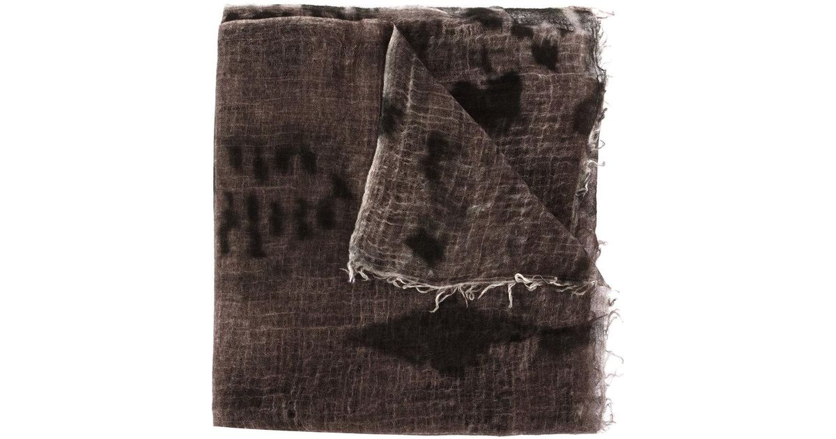 tie-dye fringed scarf - Brown Avant Toi nIyCILMHp