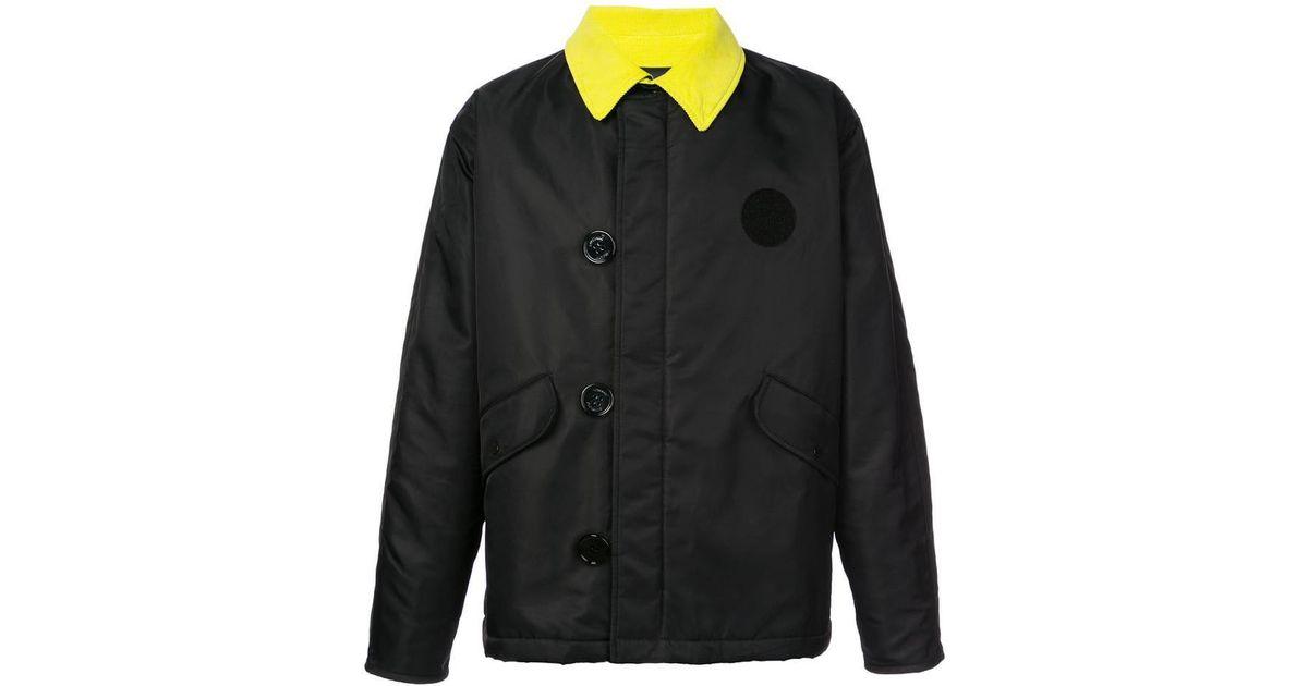 dc8ee30cc466 Lyst - Off-White c o Virgil Abloh Contrast Collar Bomber Jacket in Black for  Men