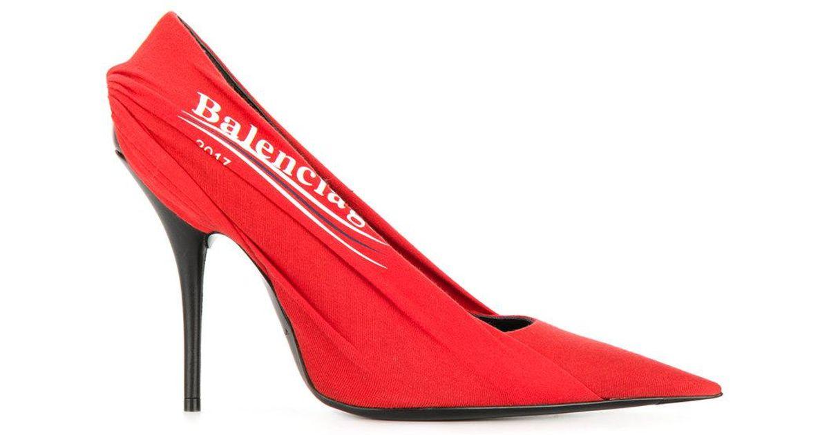 Balenciaga Stiletto Heel Velour Pointed Pumps q2Fpq