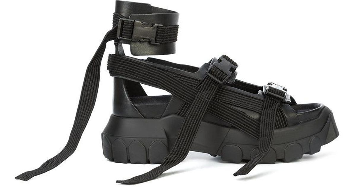 c620983188e9 Lyst - Rick Owens Hiking Spartan Sandals in Black