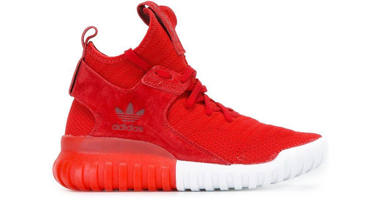 a7e9057965cb Lyst - adidas  tubular X Primeknit  Sneakers in Red for Men