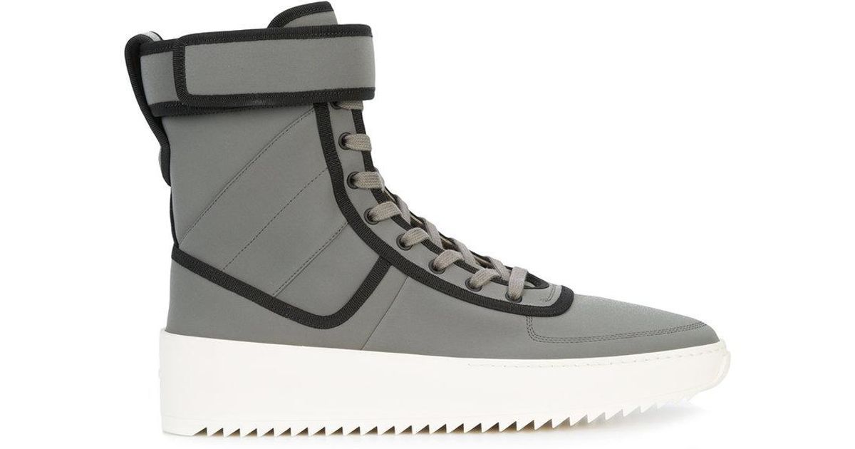 piped hi-top sneakers - Grey Fear of God pc2K2