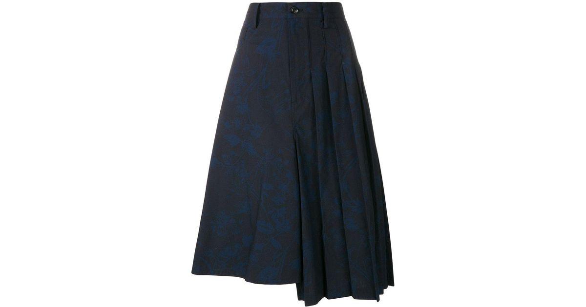 graffiti print skirt - Blue Yohji Yamamoto Cheap Sale From China Clearance Release Dates n1HGUZo7O