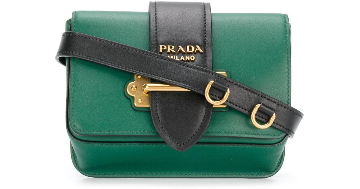 87836d114ad0a Lyst - Prada Cahier Convertible Belt Bag in Green
