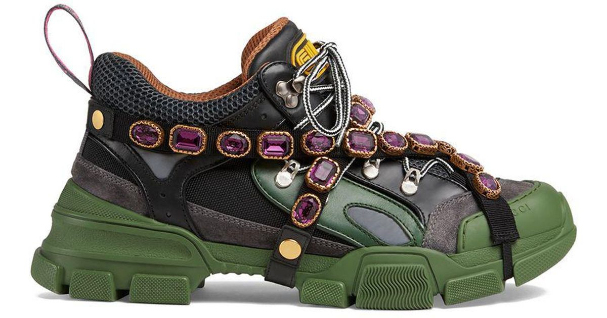 3b2dbd8d3945 Lyst - Gucci Flashtrek Sneakers in Black for Men - Save 38%