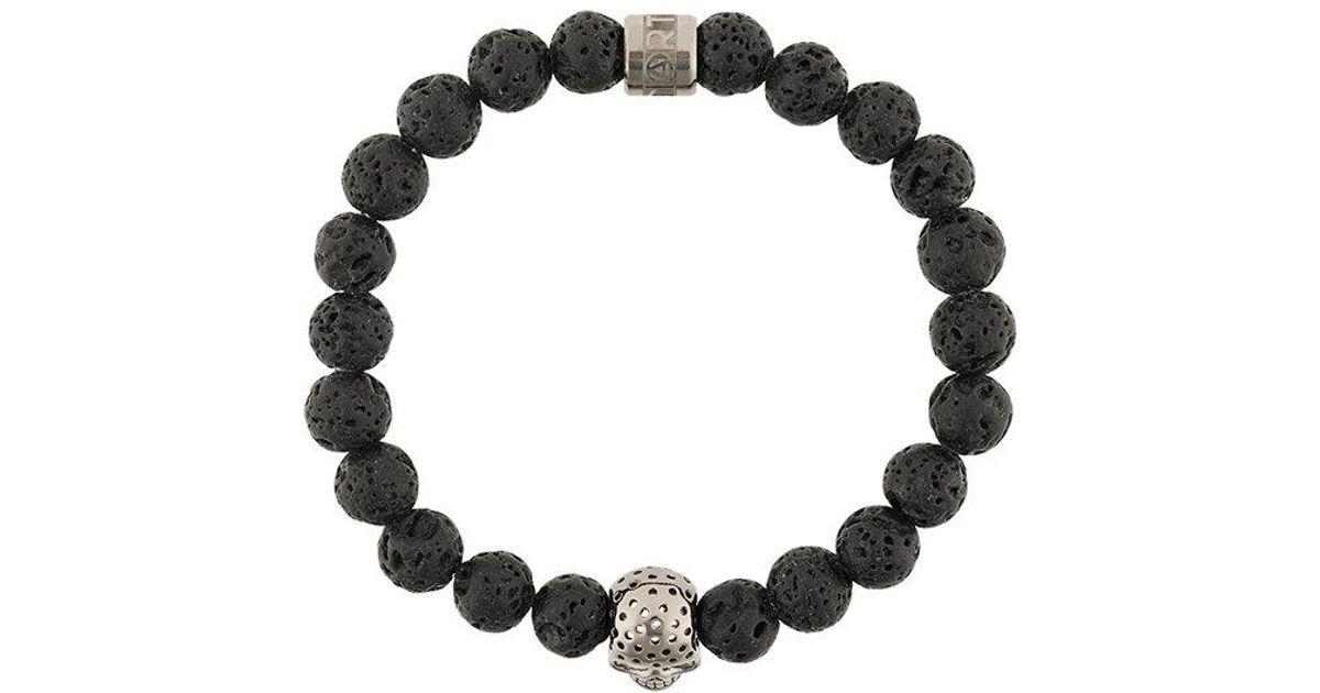 Northskull Obsidian bracelet - Black HznhQ02hm