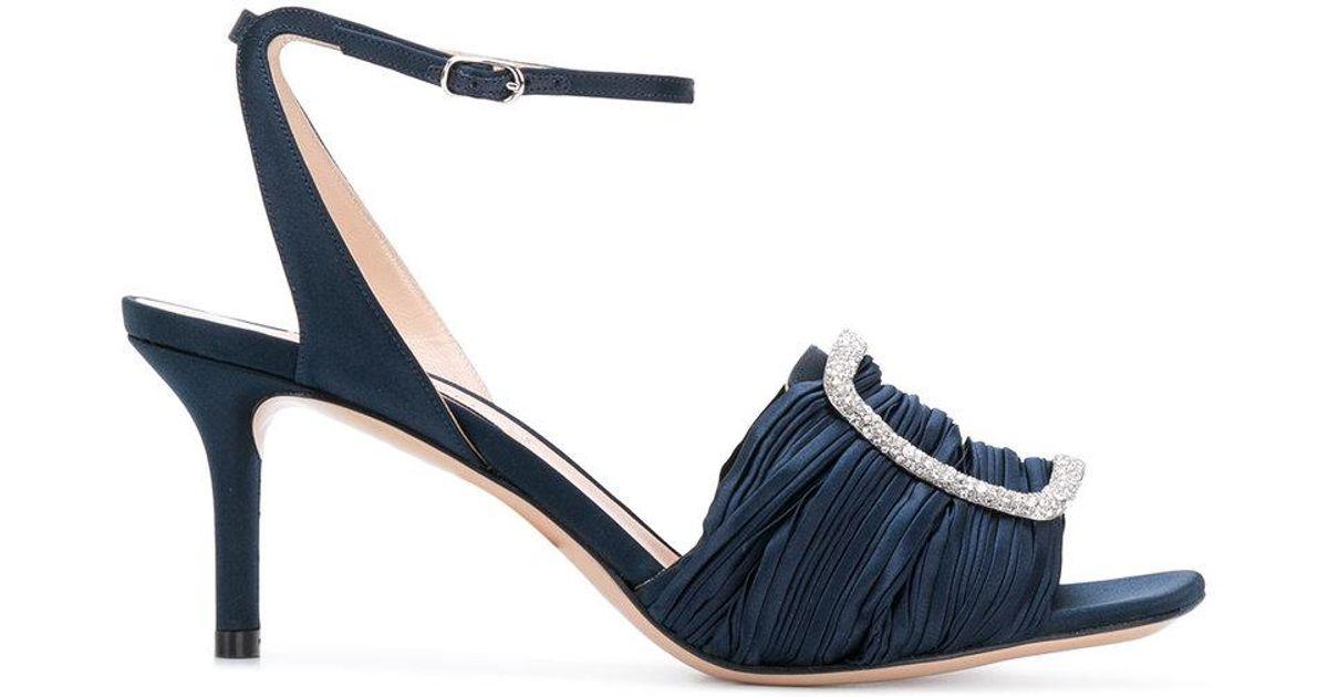 Sandales Boucle En Denim Bleu Casadei - ZQ9N1
