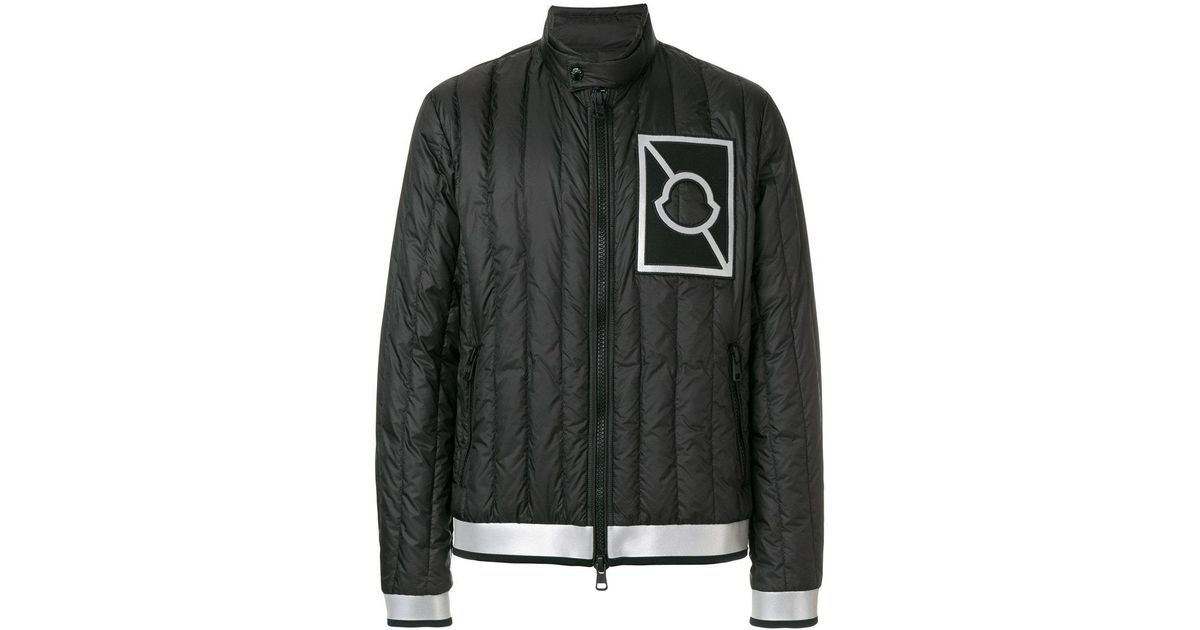 Moncler C X Craig Green Reflective Stripe Quilted Jacket in Black for Men - Lyst