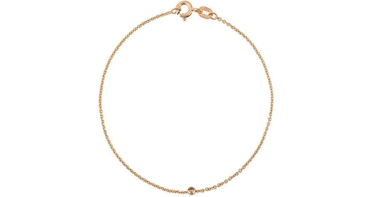 Wouters & Hendrix 18kt gold single diamond bracelet - Metallic gG83WOr