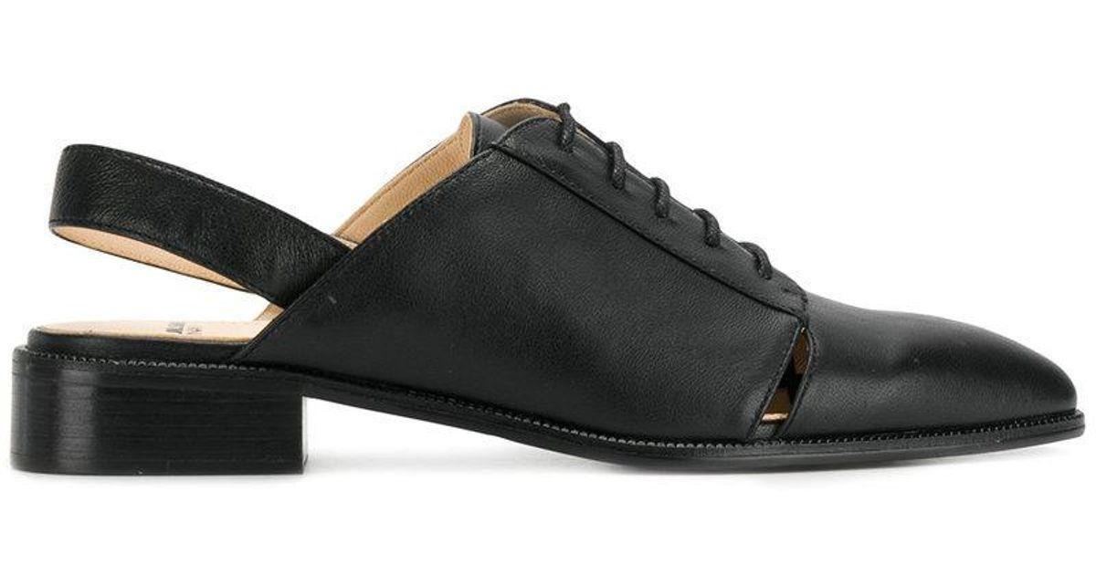 Jil Marine Ponceuse Slingback Chaussures À Lacets - Noir HtRidfbc7T