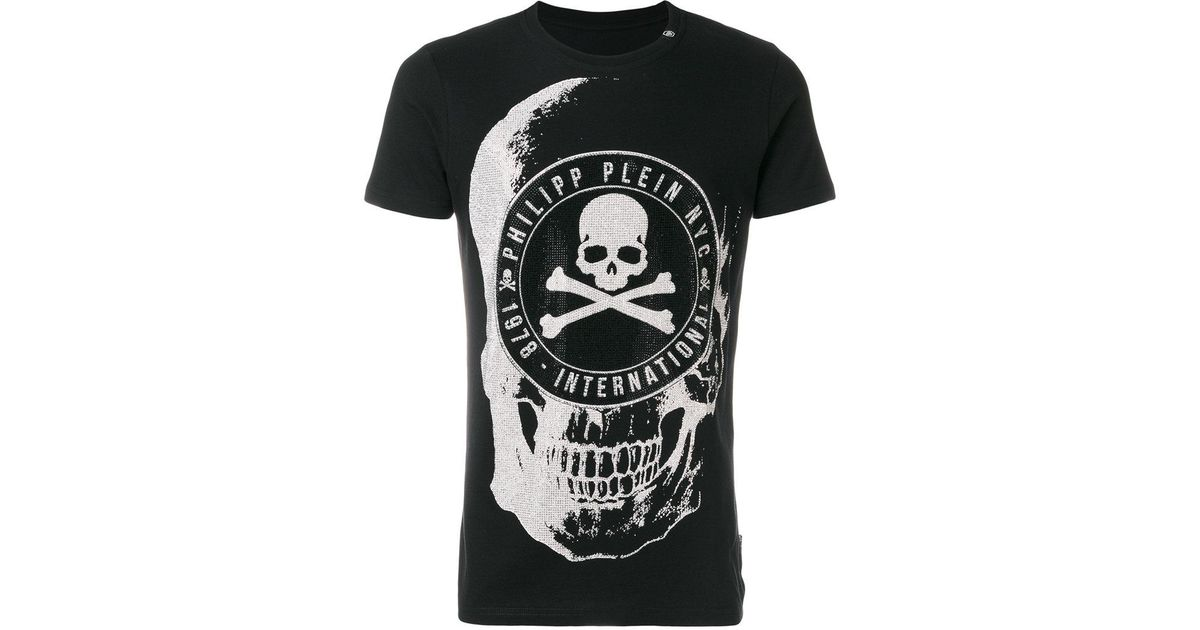 de538caab2 Lyst - Philipp Plein Oisio Embellished Skull T-shirt in Black for Men