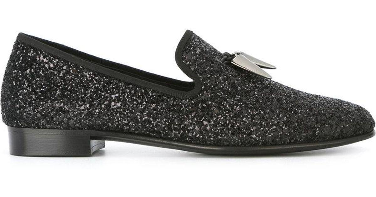 15ade5ea1a709 Giuseppe Zanotti Spacey Glitter Slippers in Black for Men - Lyst