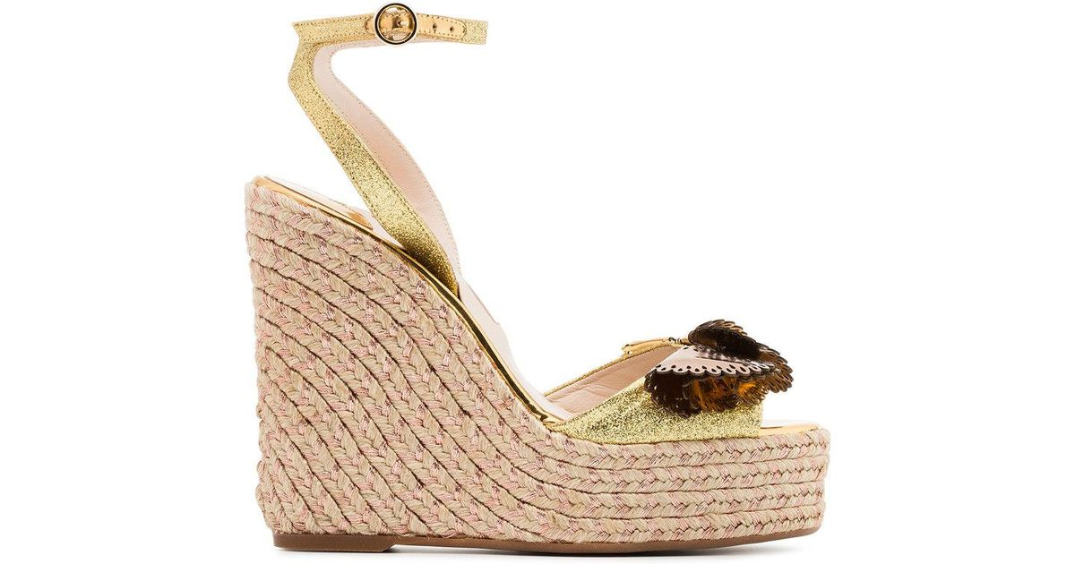 clearance prices Sophia Webster metallic gold and brown soleil lucita 140 leather sandals buy cheap for cheap best store to get cheap price cheap 2015 dHts1lL54