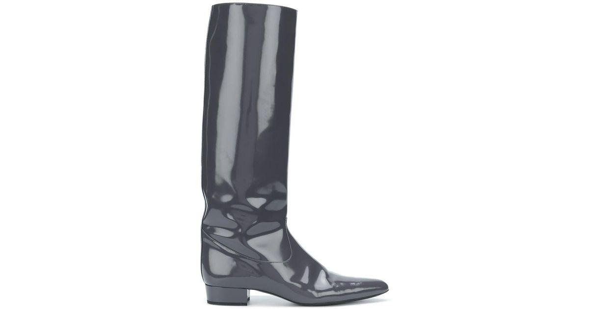 Lyst - Nina Ricci Tall Boots in Gray 3ca99bd0630