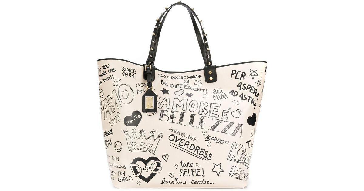 Lyst - Dolce   Gabbana Beatrice Shopper Tote Bag 97b11c4c20