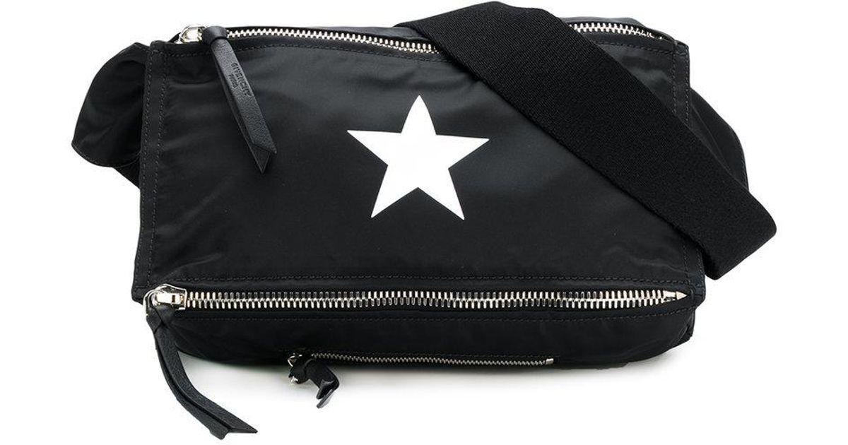 8336e0a1cb Lyst - Givenchy Star Print Pandora Belt Bag in Black for Men
