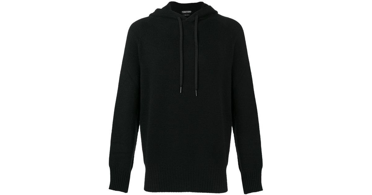 6912be38ef0 Tom Ford Knitted Hoodie in Black for Men - Lyst