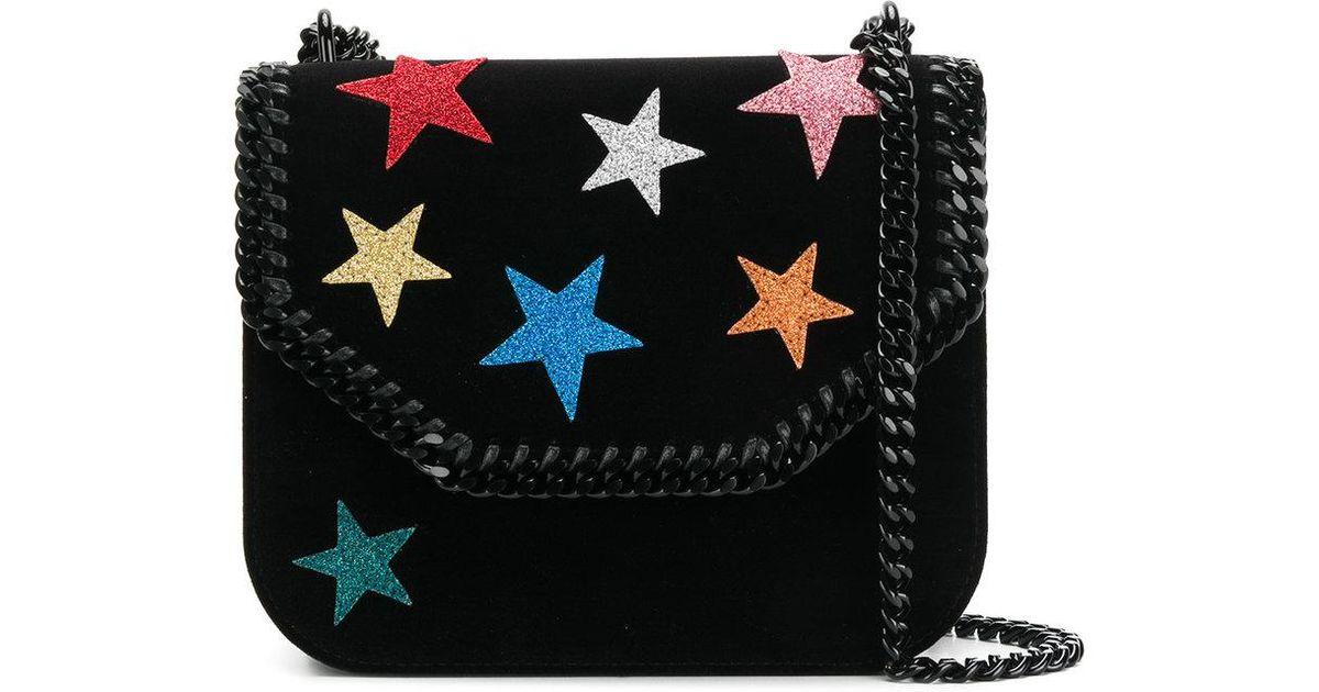 8faedd2a25d5 Lyst - Stella McCartney Falabella Box Stars Shoulder Bag in Black