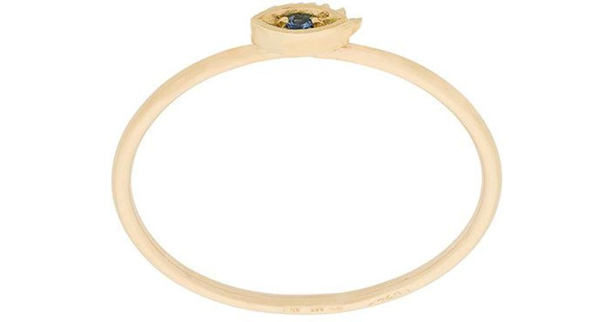 Delfina Delettrez Micro-eye ring - Metallic 617xh