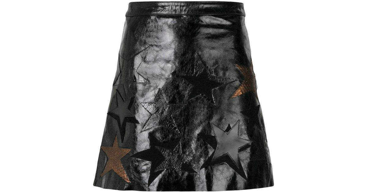 star patch a-line skirt - Brown Manokhi Free Shipping Best Wholesale Popular Cheap Price Cheap Sale Original Free Shipping Fashion Style zp9juBfC
