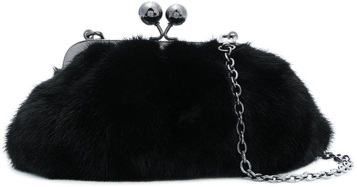 fur clasp clutch - Black Max Mara Free Shipping Original ldrHNbEpVG