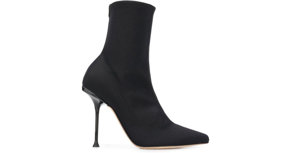 Godiva sock boots - Black Sergio Rossi IbHpFSLj